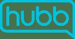 Hubb logos_Hubb logo outline - Blue