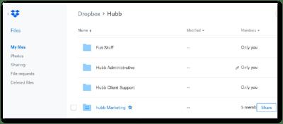hubb dropbox