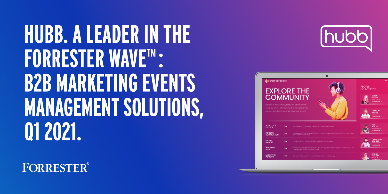 Independent Research Firm Names Hubb a Leader in the Events Management Space