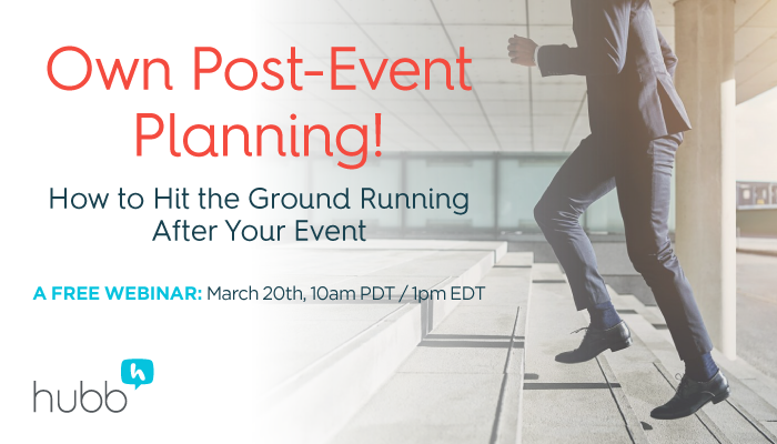 WEBINAR: Own Post-Event Planning